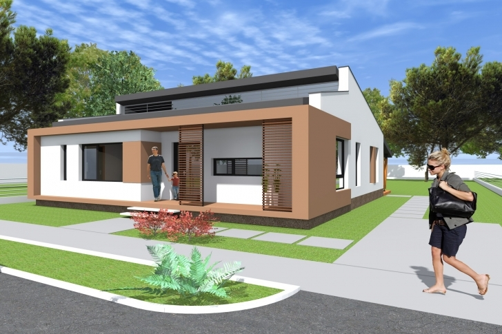 Classy Small Modern Bungalow House Design. 133 Square Meters (1431 Sq Feet Modern Bungalow House Photo