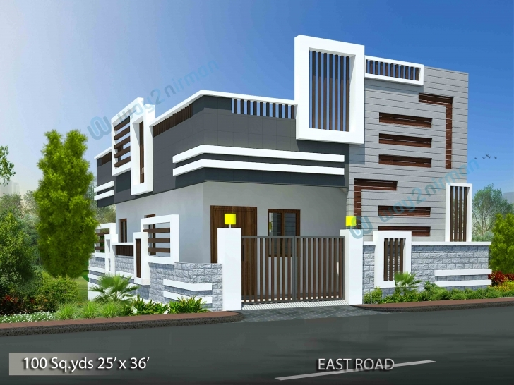 Classy Way2Nirman: House Plans With Plan, Elevation & Isometric View Photos. 2bhk House Plan And Elevation Pic