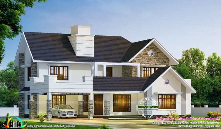 Cool 2980 Sq-Ft Semi Contemporary With Colonial Style | Kerala Home Kerala House Design 2017 2d Photo