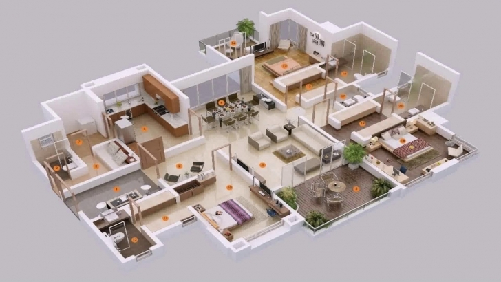 Cool 5 Bedroom House Plans 3D - Youtube 5 Bedroom House Plans 3d Image