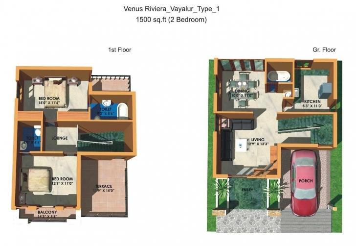Cool 600 Sq Ft Duplex House Plans Indian Style — House Style And Plans 2 Bedroom House Plans Indian Style 3d Picture