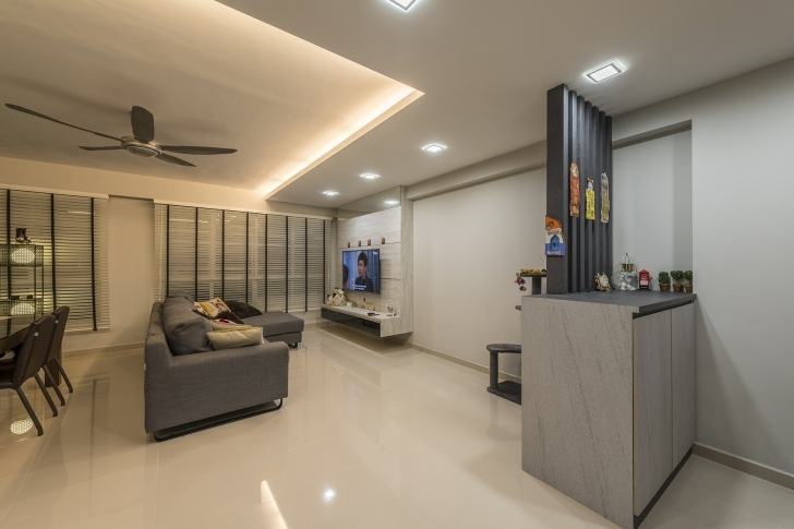 Cool A Clean And Contemporary Look For This 5-Room Hdb Flat | Lookboxliving Five Bedroom Flat Design Photo
