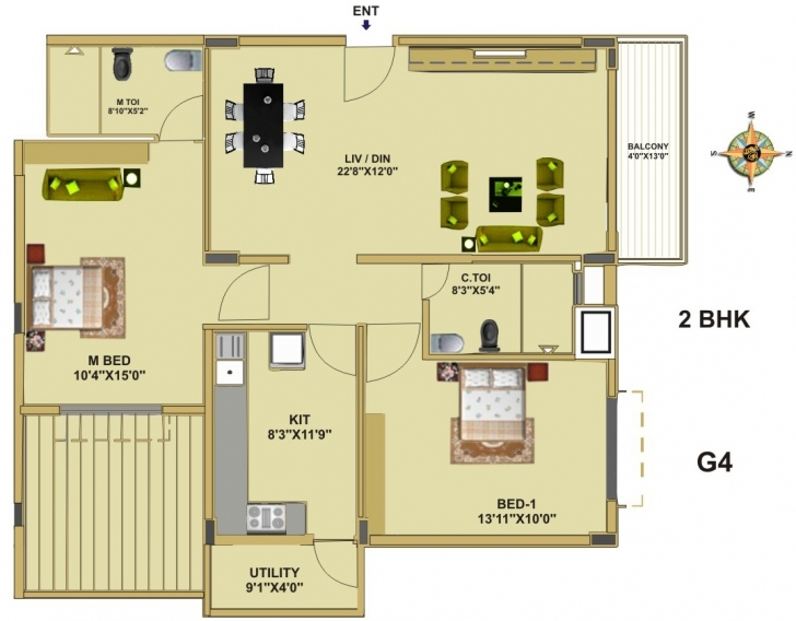 Cool Floor Plan - Fort House, Near Hebbal Lake, Bangalore - Thipparti G 2 Residential Building Plan Photo