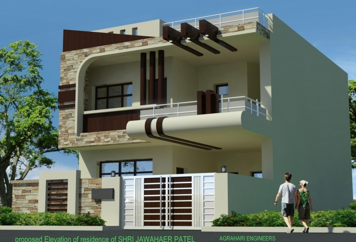 Cool House Front Elevation Images   The Best Wallpaper 15*30 Home Front Design Photo