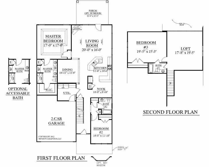 Cool House Plan 2545 Englewood Floor Plan - Traditional 1-1/2-Story House 2 Bedroom House Plans With Loft Picture