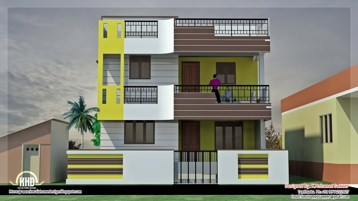 Cool Inspirations: 1500 Square Fit Latest Home Front 3D Designs And 15*30 Home Front Design Photo