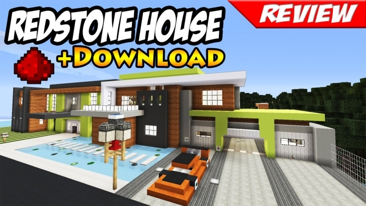 Cool Minecraft: Best Modern Redstone House + Download / Smart House Map Modern House Minecraft 1.11 Photo