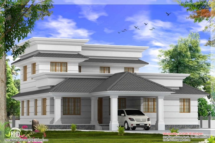 Cool Modern 4 Bedroom Villa With Courtyard In 2162 Sq.feet - Kerala Home Kerala Home Design Blogspot Photo