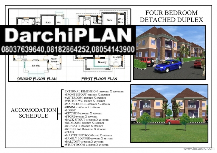 Cool Nigeria Building Style(Architectural Designs By Darchiplan Homes 4 Bedroom Duplex On Half Plot Of Land Photo