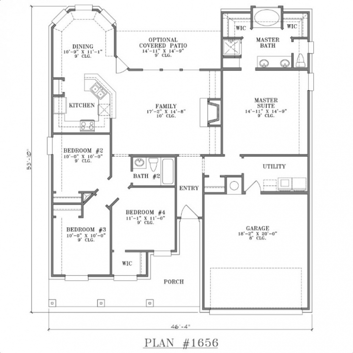 Cool One Story House Plans Without Garage Well-Suited Ideas 9 1 Story Well Designed Home Plans Picture