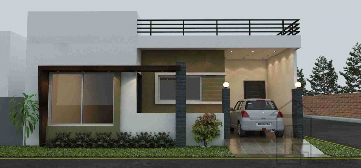 Cool Outstanding Single Floor House Front View Designs With Storey Design Single Floor House Front Elevation Photos Photo
