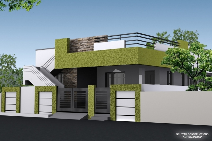 Cool Single Floor House Elevation Designing Photos | Home Designs Single Floor Front Elevation Image Picture
