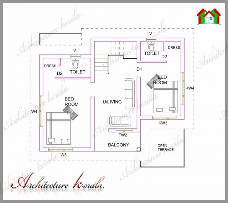 Exquisite A Small Kerala House Plan - Architecture Kerala Kerala House Plans 1000 Sq Ft Pic