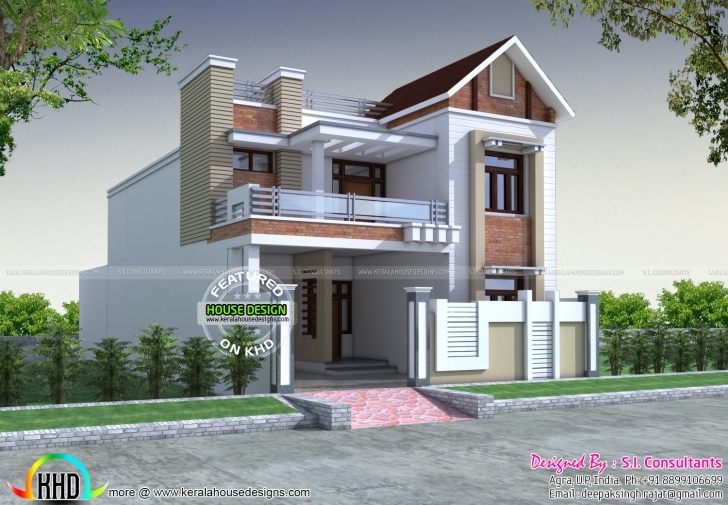 Exquisite Front Decorative House Elevation | Kerala Home Design | Bloglovin' Home Elevation 1550 Image