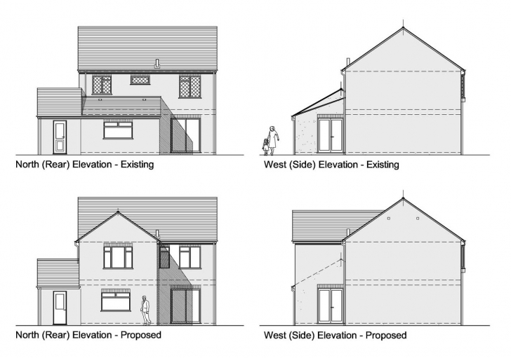 Exquisite House Plans Section Drawings Plan With Elevation And H2 Planning Plan Elevation Section Ppt Image
