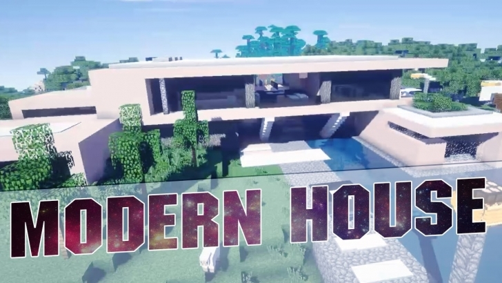 Exquisite Minecraft - Beautiful Modern House Cinematics - Modern House With Map Modern House Minecraft 1.11 Picture