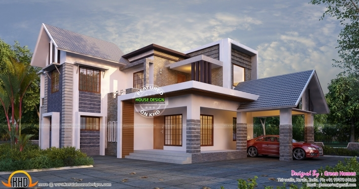 Exquisite New And Stylish House Plan | Kerala Home Design | Bloglovin' Modern Stylish House Plans Picture