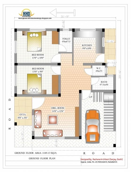 Exquisite Nice 600 Sq Ft House Plans 2 Bedroom Indian — Simple House Plans House Plans For 1000 Sq Ft Indian Style Pic