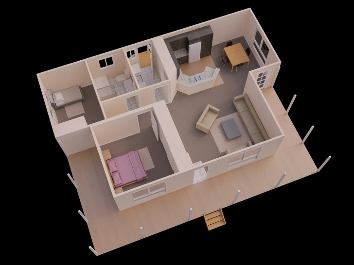 Exquisite Simple Home Plan With 2 Bedrooms Ideas Sq Ft House Plans Bedroom Simple House Plan With 2 Bedrooms Image