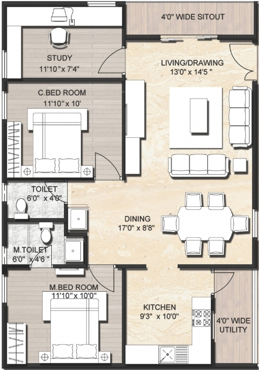 Fantastic 20 Awesome 1800 Sq Ft House Plans Indian Style   Disneysoul House Plans Indian Style In 1200 Sq Ft Single Floor Picture