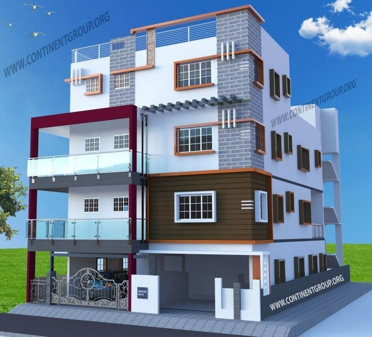 Fantastic 3D Architectural Visualization In Bangalore - Continent Group Architectural Elevations Of Buildings Picture