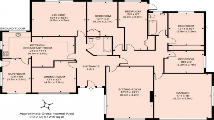 Fantastic Bedroom: Bungalow House Plans 4 Bedroom Architectural Plan For A 5 Bedroom Bungalow Image