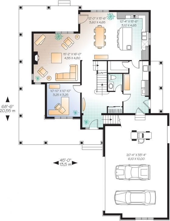 Fantastic Farmhouse Style House Plan - 4 Beds 2.50 Baths 2376 Sq/ft Plan #23 15 By 45 House Layout Plan Pic