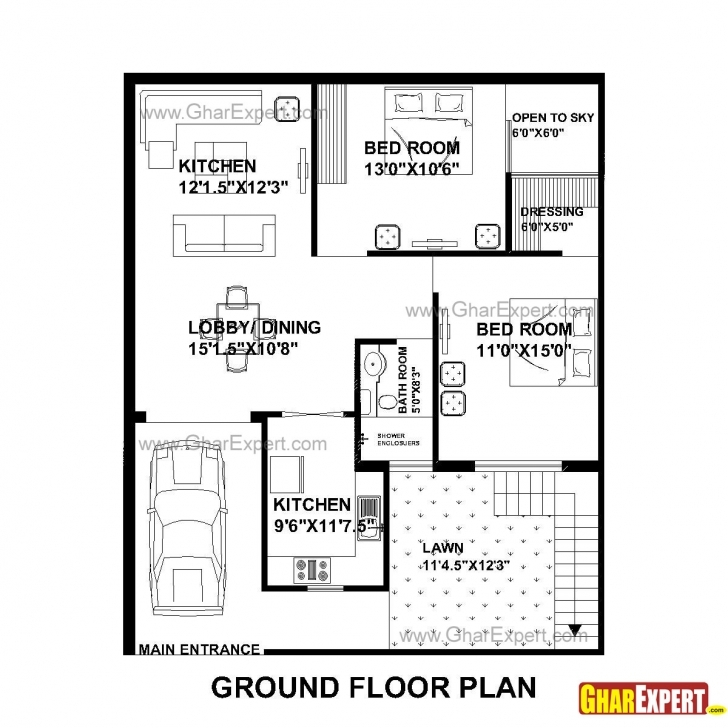 Fantastic House Plan For 33 Feet By 40 Feet Plot Everyone Will Like | Homes In Homeplan For 15 Feet According Vastu Picture