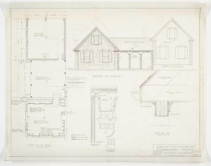 Fantastic House Plans Elevation Section - Homes Floor Plans Plan Section And Elevation Of Houses Pic