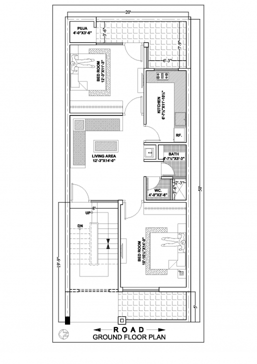 Fascinating 20×50 House Floor Plan According To East,south,north,west Side 20 X 50 House Plans East Facing Pic