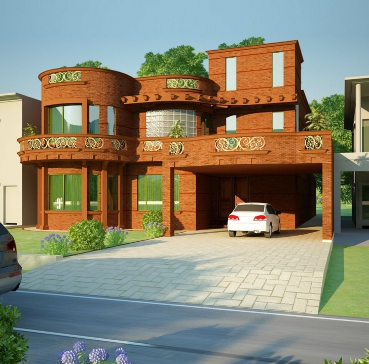 Fascinating 3D Front Elevation Of House - Good Decorating Ideas Simple House Designs In Pakistan Pic