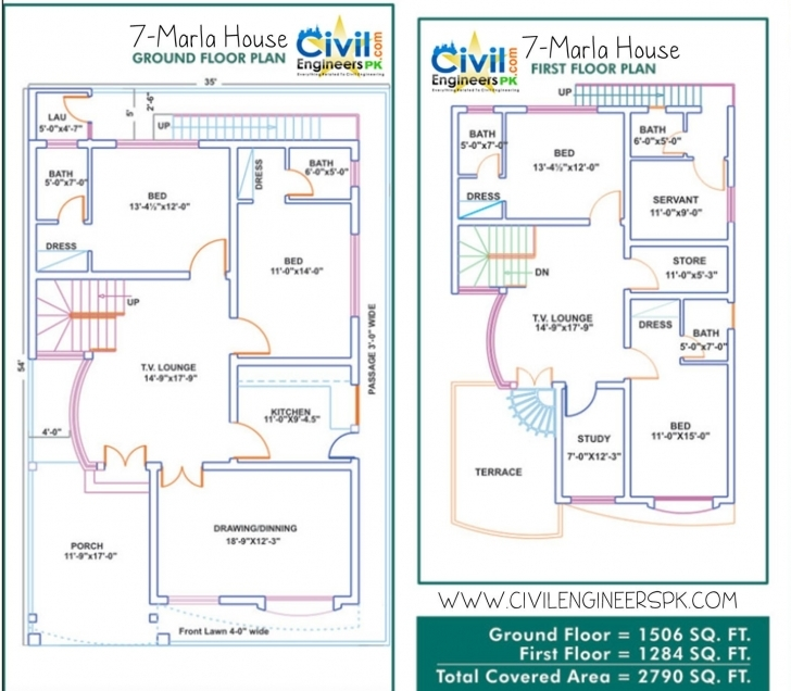 Fascinating 7 Marla House Plan Best Of 7 Marla House Plans Civil Engineers Pk 7 Marla House Map Pic