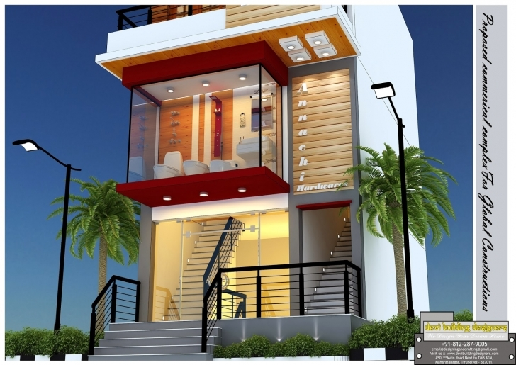 Fascinating Building Elevation Designers 3D Elevations, Planning ,interior And 3d Elevations Of Buildings Photo