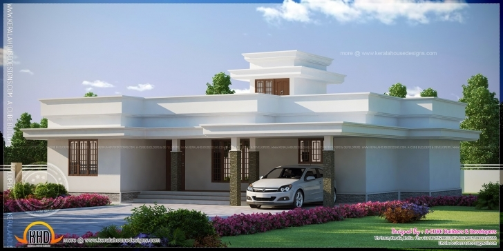 Fascinating Contemporary Flat Roof Single Storied House Model Kerala Home Design Flat House Design Images Pic