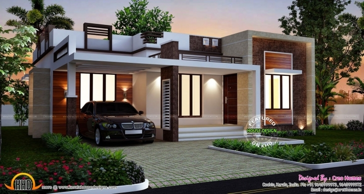 Fascinating Designs Homes Design Single Story Flat Roof House Plans Inspiration Single Floor House Design Image Picture