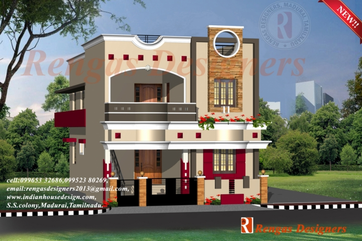 Fascinating Duplex House Elevation Photos India. Duplex House Elevation Square Indian Village House Design Front View Picture