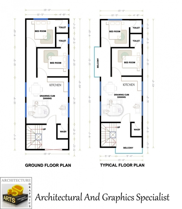 Fascinating Entry #8 By Archmamun For Need A Fantastic House Plan Of 15'x45 15 By 45 House Layout Plan Image