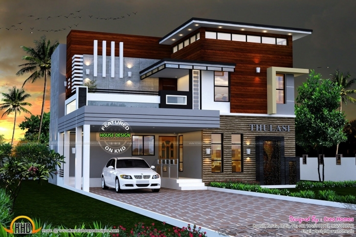 Fascinating Eterior Design Modern Small House Architecture Building Plan Home Kerala House Design Image Photo