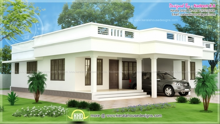 Fascinating Flat Roof Single Storey Home Kerala Plans - House Plans | #65422 Single Storey Indian House Designs Picture