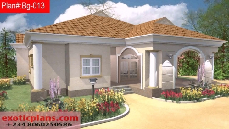 Fascinating Free 4 Bedroom Bungalow House Plans In Nigeria - Youtube Bungalow House Plan In Nigeria Image