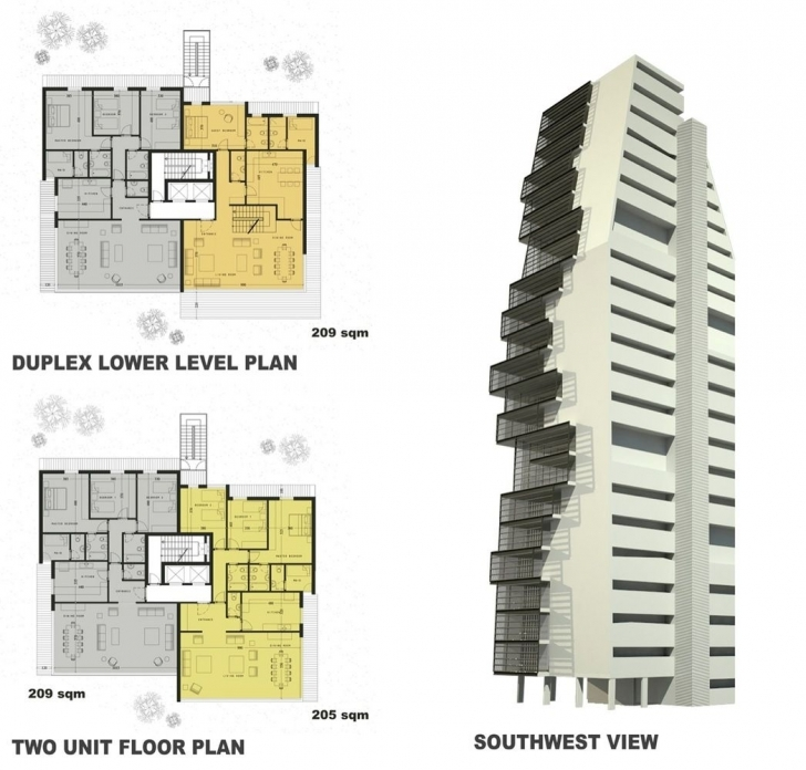 Fascinating Gallery Of Beirut Observatory / Accent Design Group - 3 | Beirut Plan And Elevation Of Residential Building Picture