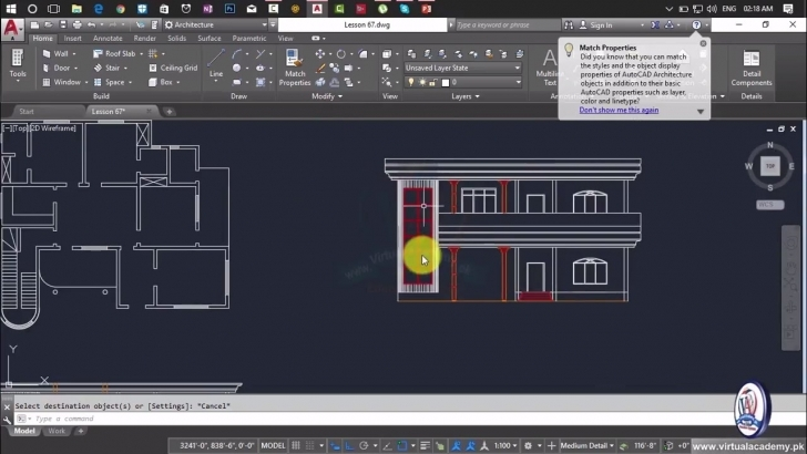 Fascinating How To Making Elevation In Autocad | House Elevation | House Plan Section And Elevation Of Houses Autocad Photo