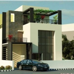 Front Elevation Of Indian House 30×50 Site Ground Floor