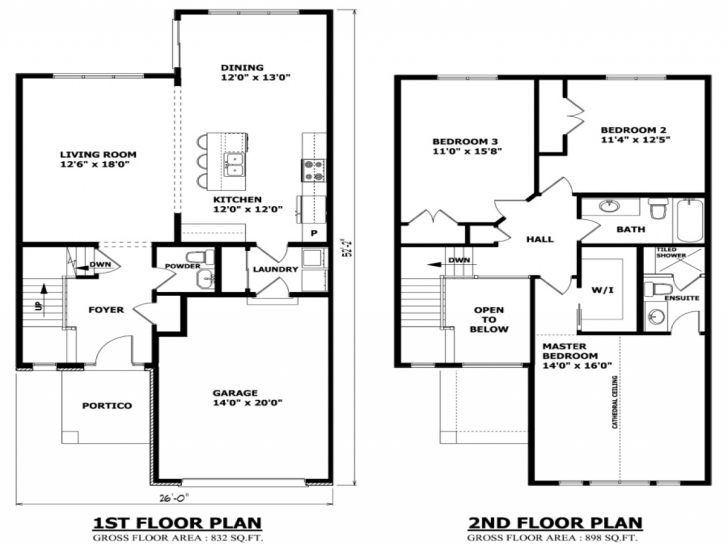 Fascinating Modern Two Story House Plans Balcony - House Plans   #43386 Two Storey House Plans With Balcony Image