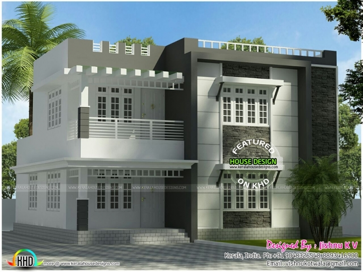 Good 22 Lakh Budget 4 Cent Plot Home Plan - Kerala Home Design And Floor 4 Cent House Plan Picture