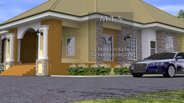 Good 3 Bedroom House Design In Nigeria - Youtube Pictures Of Houses On A Half Plot Of Land In Ghana Photo