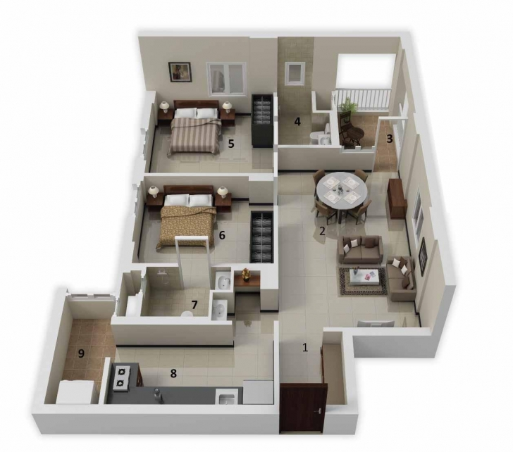 Good 600 Sq Ft House Plans 2 Bedroom Indian Floor — Simple House Plans Simple House Plan With 2 Bedrooms In India Image