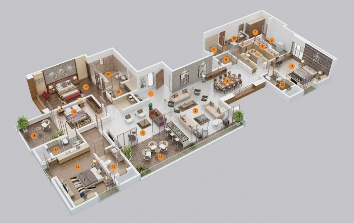 Good Bedroom Apartmenthouse Plans Pictures Simple House Plan With 5 5 Bedroom House Plans 2 Story 3d Image