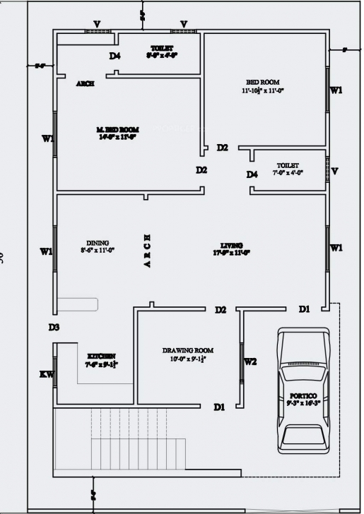 Good House Plan House Plans Below Square Feet Under Escortsea Sq Ft 1100 Sq Ft House Plans With Car Parking Pic