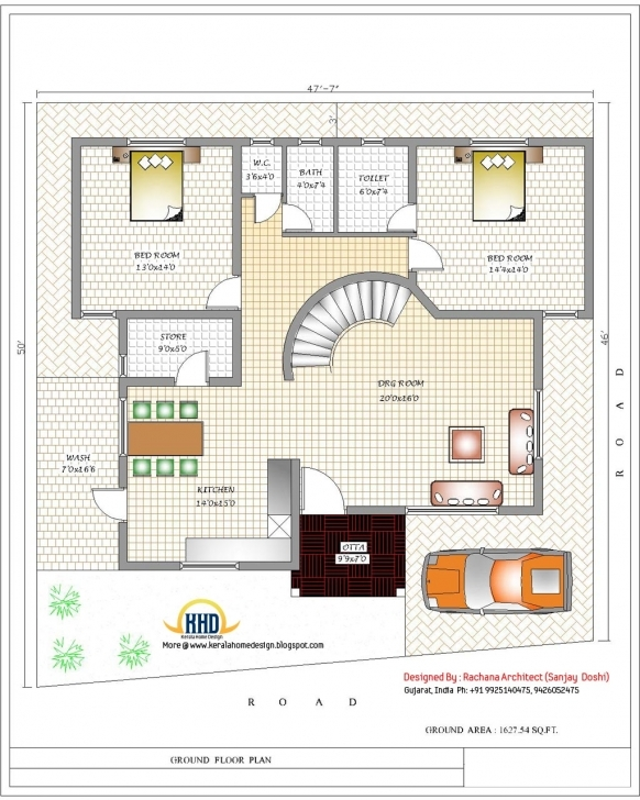 Good India Home Design With House Plans - 3200 Sq.ft. | Home Appliance House Plans Indian Photo
